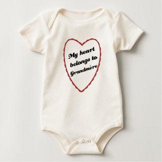 My Heart Belongs to Grandmere Baby Bodysuit