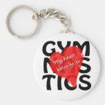 My Heart Belongs To Gymnastics Basic Round Button Keychain