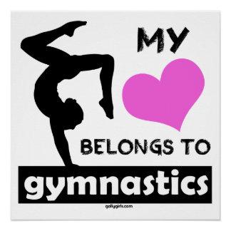 My Heart Belongs to Gymnastics Poster