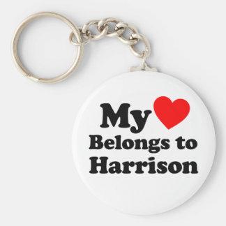 My Heart Belongs to Harrison Keychain