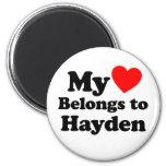 My Heart Belongs to Hayden Fridge Magnets