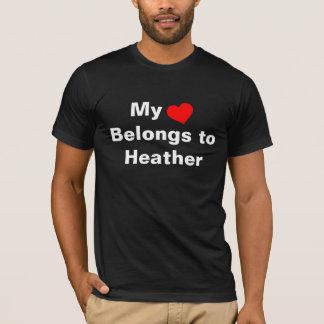 My heart Belongs to Heather T-Shirt