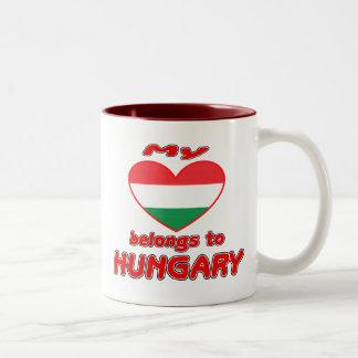 My heart belongs to Hungary Mugs