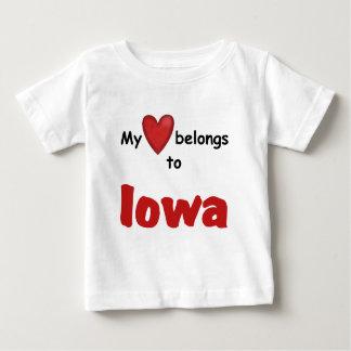 My Heart Belongs to Iowa Baby T-Shirt