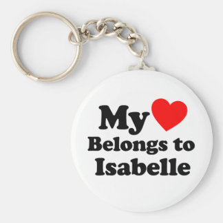My Heart Belongs to Isabelle Basic Round Button Keychain