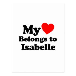 My Heart Belongs to Isabelle Postcard