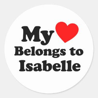 My Heart Belongs to Isabelle Stickers