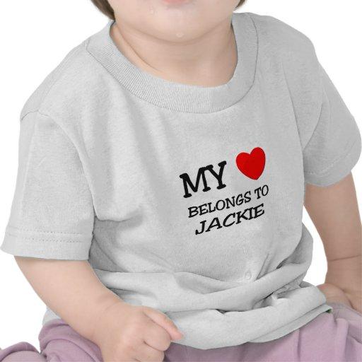 My Heart Belongs to Jackie Tshirts