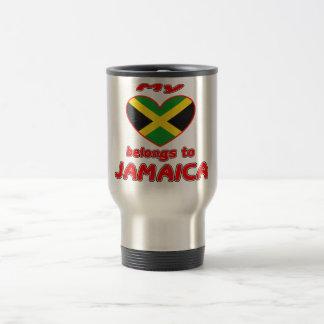 My heart belongs to Jamaica Mugs