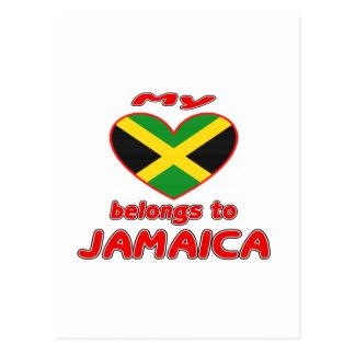 My heart belongs to Jamaica Postcard