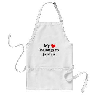 My heart belongs to jayden adult apron