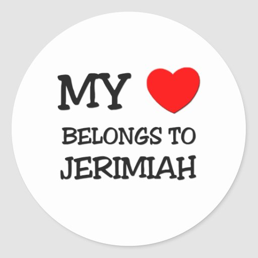 My Heart Belongs to Jerimiah Stickers
