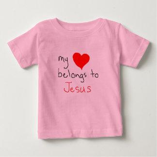 my heart belongs to jesus baby T-Shirt