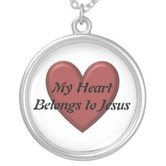 My Heart Belongs to Jesus Round Pendant Necklace