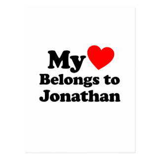 My Heart Belongs to Jonathan Postcard
