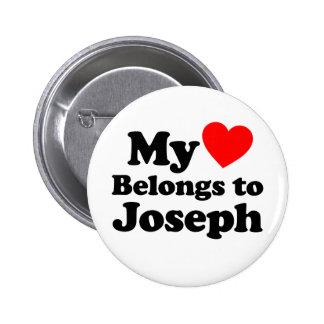 My Heart Belongs to Joseph 2 Inch Round Button