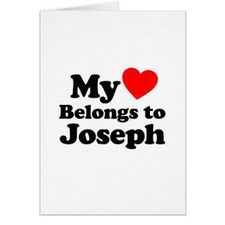My Heart Belongs to Joseph Greeting Card