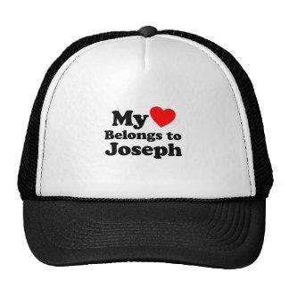 My Heart Belongs to Joseph Trucker Hat