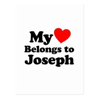 My Heart Belongs to Joseph Postcard