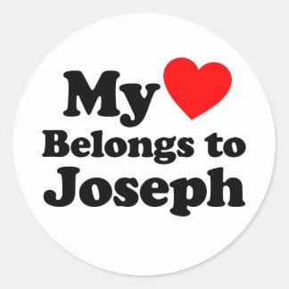 My Heart Belongs to Joseph Classic Round Sticker