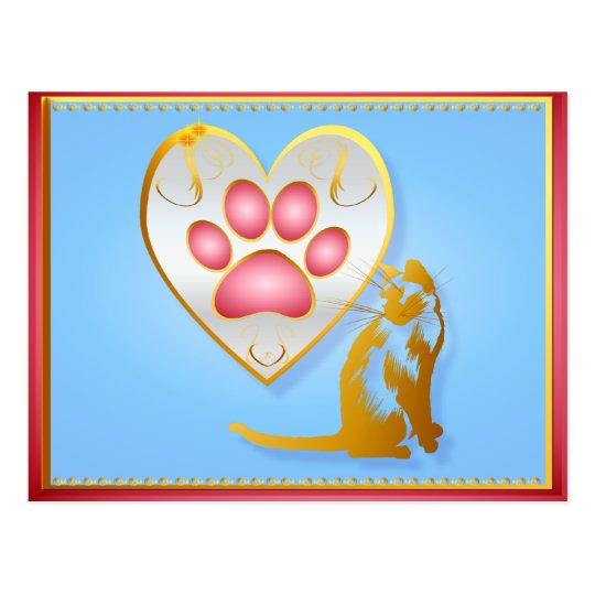 My Heart Belongs To Kitty Postcard