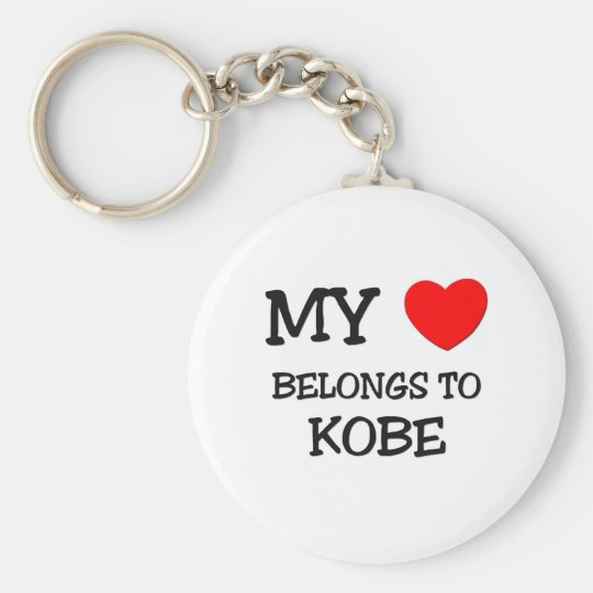 My Heart Belongs to Kobe Keychain