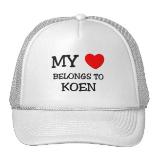 My Heart Belongs to Koen Trucker Hat