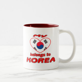 My heart belongs to Korea Mugs