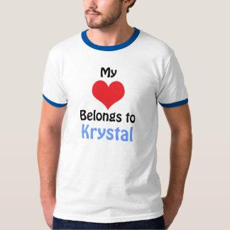 My Heart Belongs to Krystal T-Shirt
