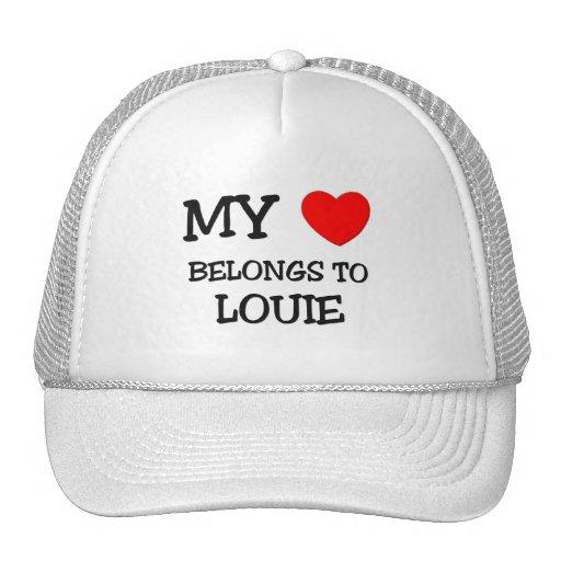 My Heart Belongs to Louie Mesh Hats