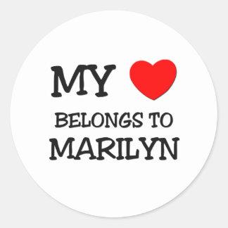 My Heart Belongs To MARILYN Stickers