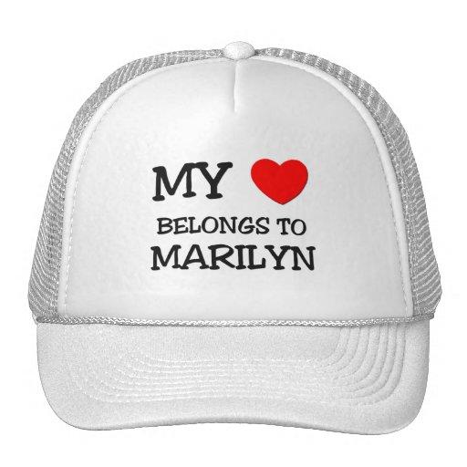 My Heart Belongs To MARILYN Trucker Hat