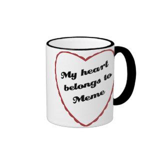 My Heart Belongs to Meme Ringer Mug