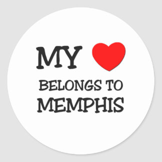 My heart belongs to MEMPHIS Classic Round Sticker