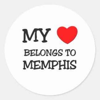 My heart belongs to MEMPHIS Classic Round Sticker