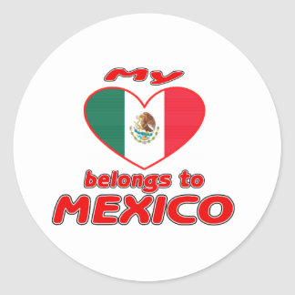 My heart belongs to Mexico Classic Round Sticker