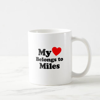 My Heart Belongs to Miles Coffee Mug