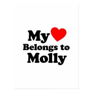 My Heart Belongs to Molly Postcard