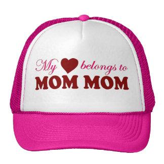 My Heart Belongs to Mom Mom Hats