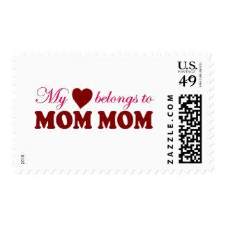 My Heart Belongs to Mom Mom Stamp