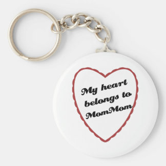 My Heart Belongs to MomMom Basic Round Button Keychain