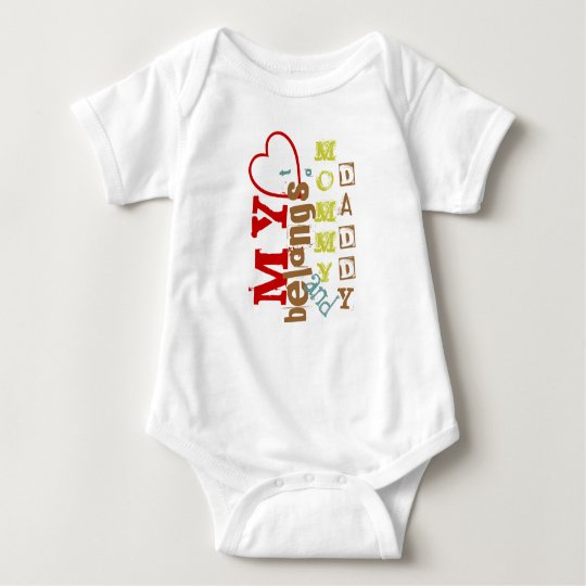 My Heart Belongs to Mommy and Daddy Toddler Baby Bodysuit