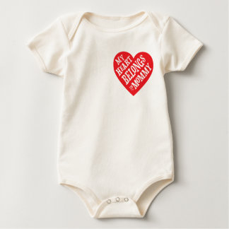 My Heart Belongs to Mommy Mothers Day Gift Baby Bodysuit