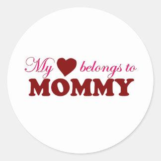 My Heart Belongs to Mommy Stickers