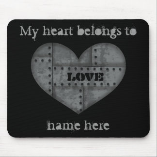 My heart belongs to mouse pad