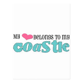 My heart belongs to my coastie post cards