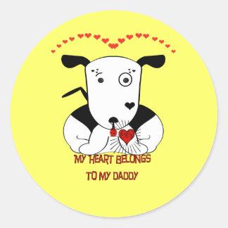 My Heart Belongs to My Daddy Classic Round Sticker