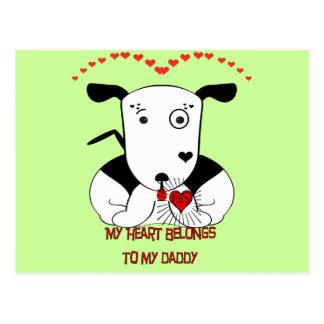 My Heart Belongs to My Daddy Postcard