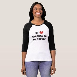 My heart belongs to my doodle t-shirt