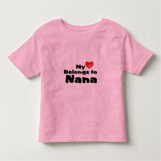 My Heart Belongs to Nana Toddler T-shirt